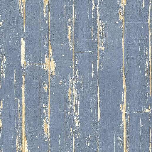 Kék deszka hatású vlies tapéta