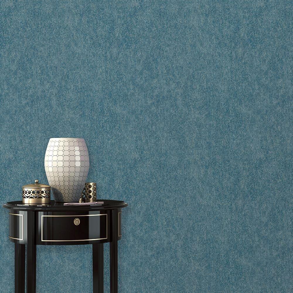 Kék egyszínű uni tapéta foltos hatással
