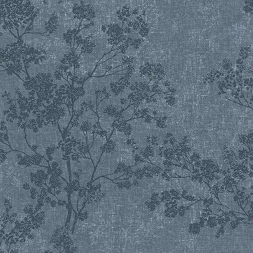 Kék elegáns faág mintás dekor tapéta