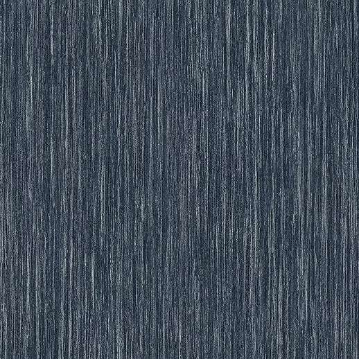 Kék-ezüst csillogó felületű luxus tapéta vertikális struktúrával