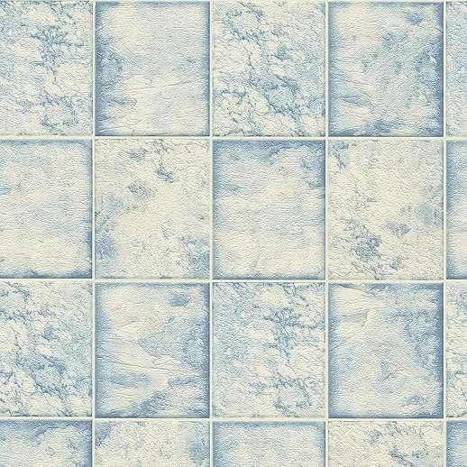 Kék-fehér csempe mintás tapéta