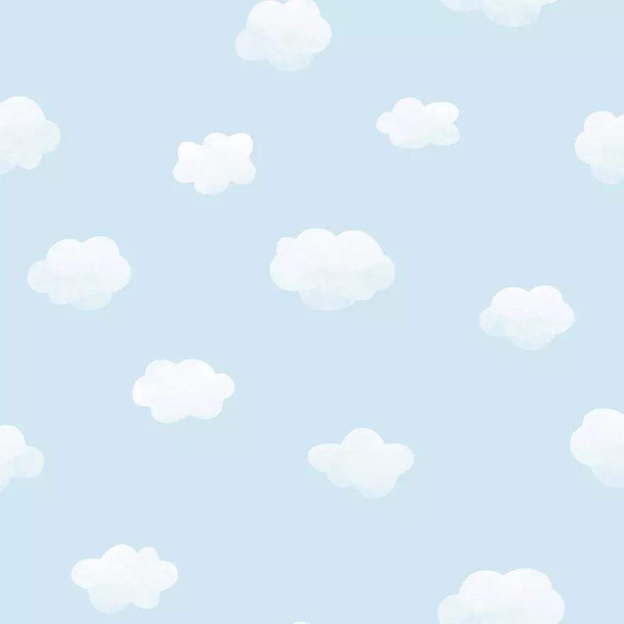 Kék felhő mintás tapéta
