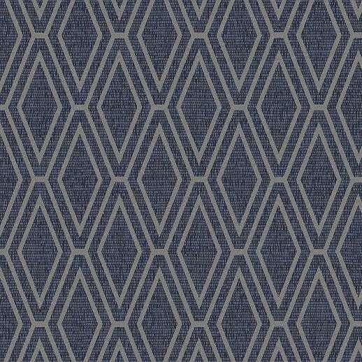 Kék geometrikus mintás modern vlies tapéta