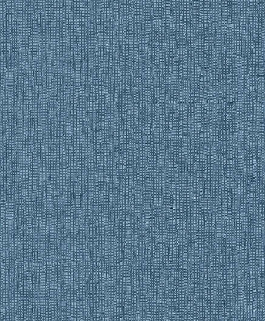 Kék nyomott mintás egyszínű tapéta