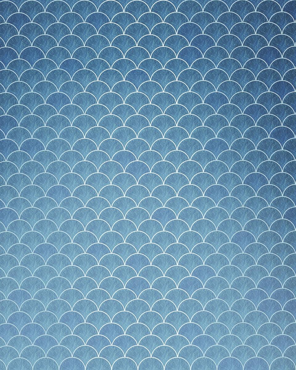 Kék pikkelymintás poszter