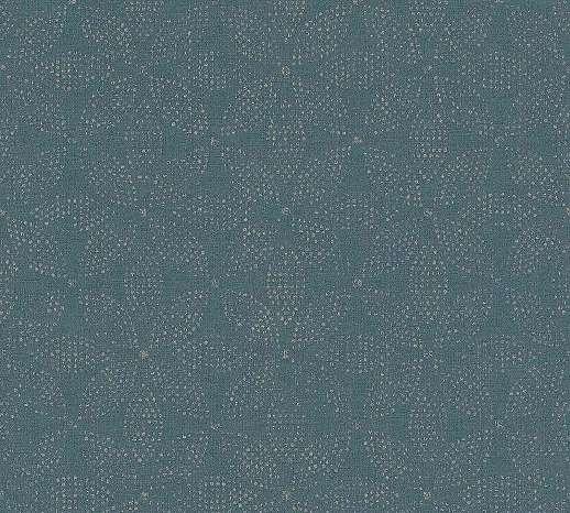 Kék színű tapéta finom orientális stílusú geometrikus mintával