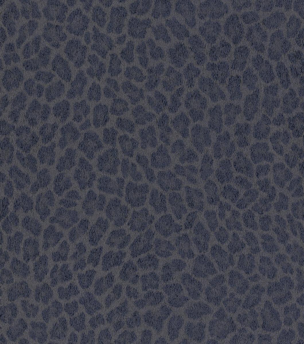 Kék-szürke színű leopárd mintás tapéta