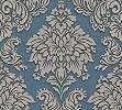 Kék tapéta klasszikus barokk mintával