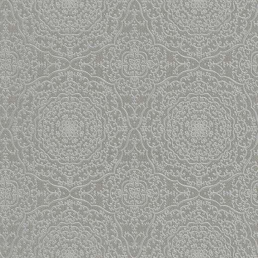 Keleties hangulatú mandala mintás tapéta ezüst, szürke színvilágban