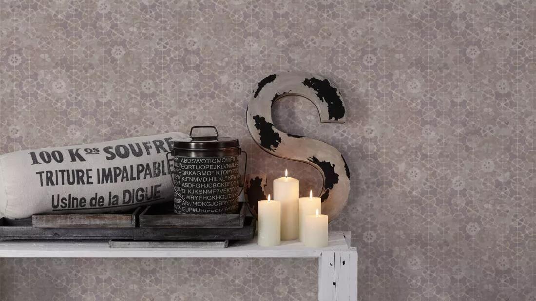 Keleties hangulatú virágmintás mosható felületű dekor tapéta