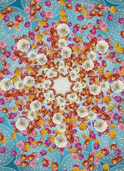 Keleties virágos mandala poszter