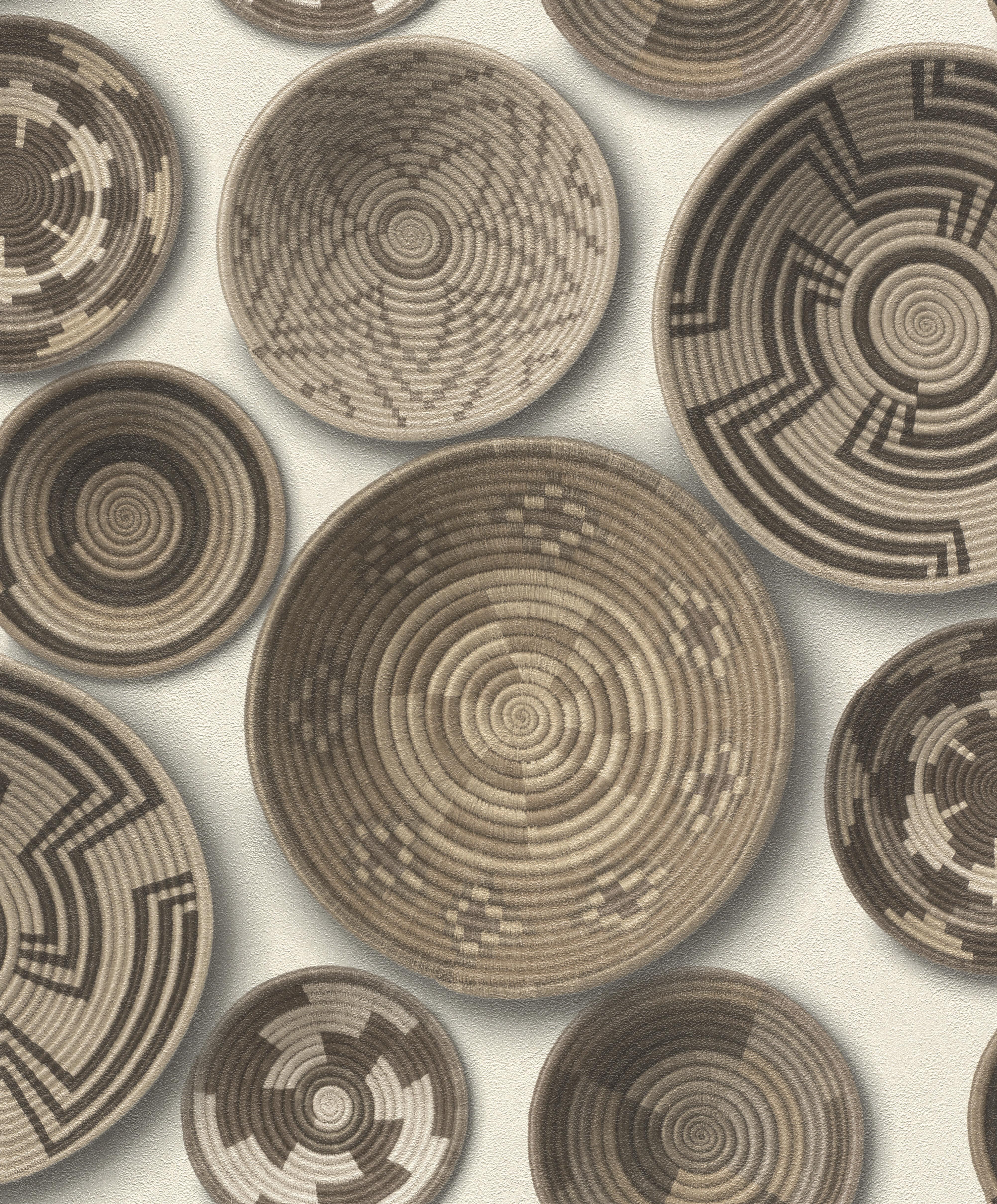 Kézzel készített tál mintás tapéta