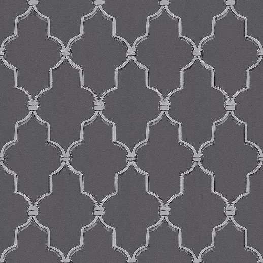 Klasszikus mintás vlies tapéta fekete-szürke színben