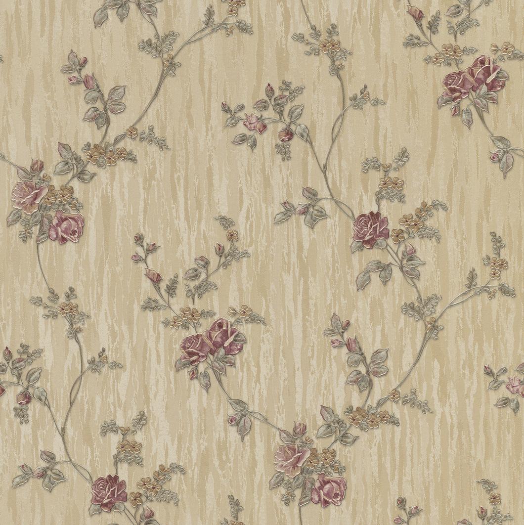 Klasszikus színes virág mintás tapéta