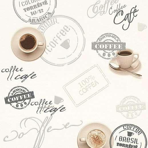 Konyhai kávé mintás tapéta