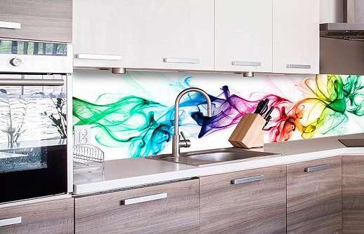 Konyhai öntapadós fólia modern színes hullám mintával