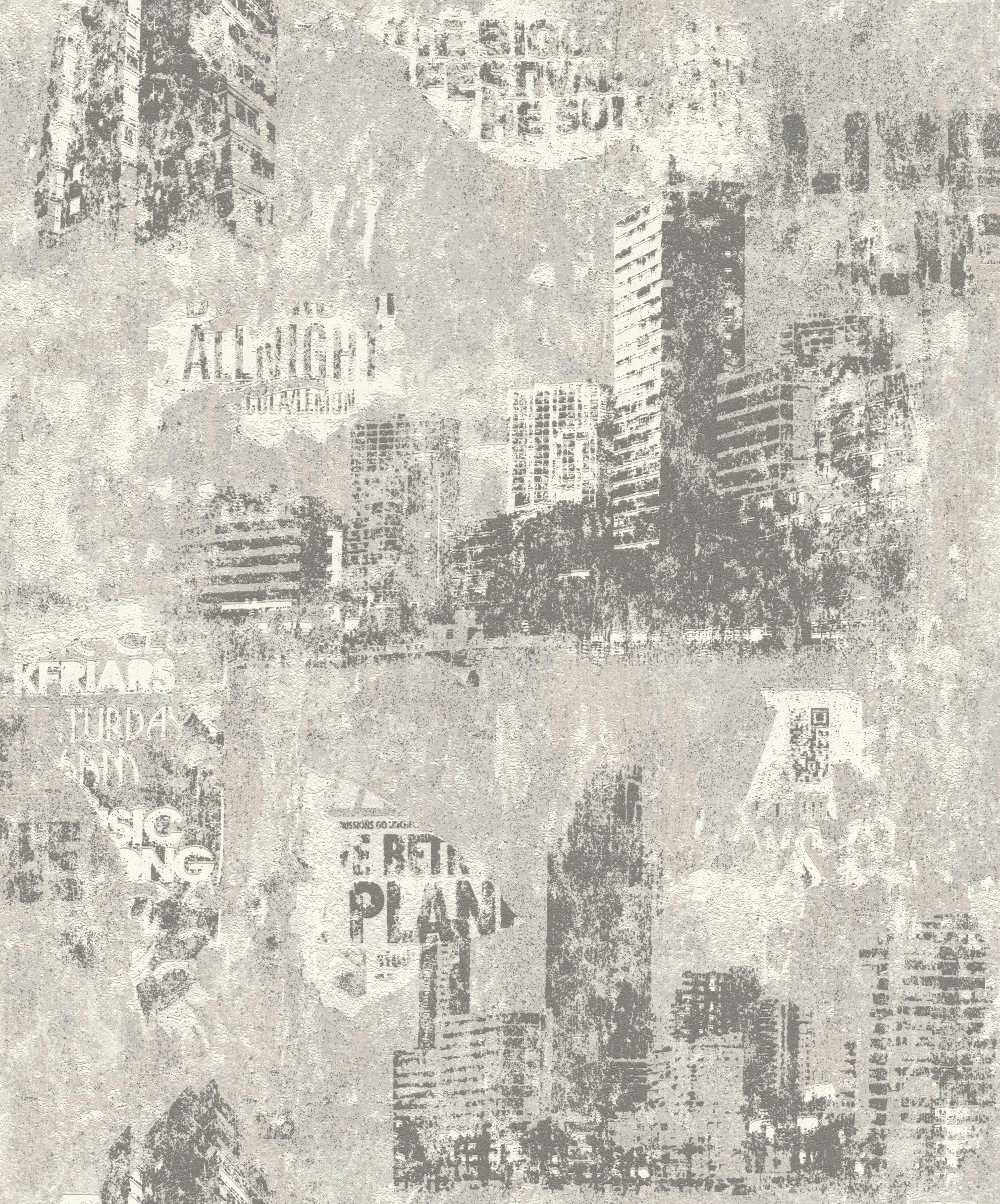 Koptatott hatású épület mintás gyerek tapéta