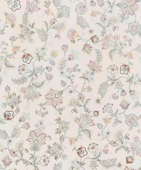 Krém alapon apró vintage hangulatú virágmintás vlies design tapéta