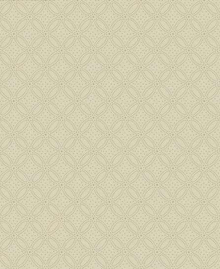 Krém alapon arany színű pöttökkel kirakott geometrikus mintás vlies tapéta