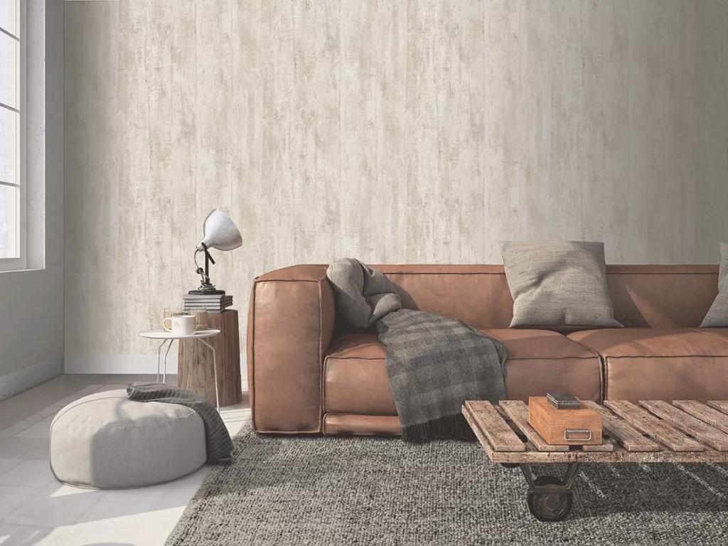 Krém barna vlies vinyl mosható felületű deszka mintás tapéta
