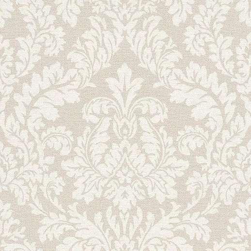 Krém-bézs klasszikus barokk mintás vlies tapéta