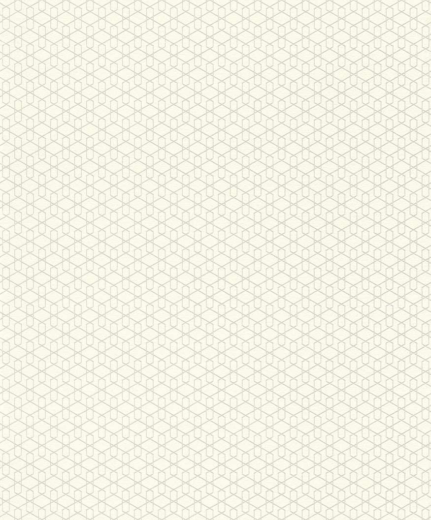Krém, bézs színű geometriai mintás tapéta