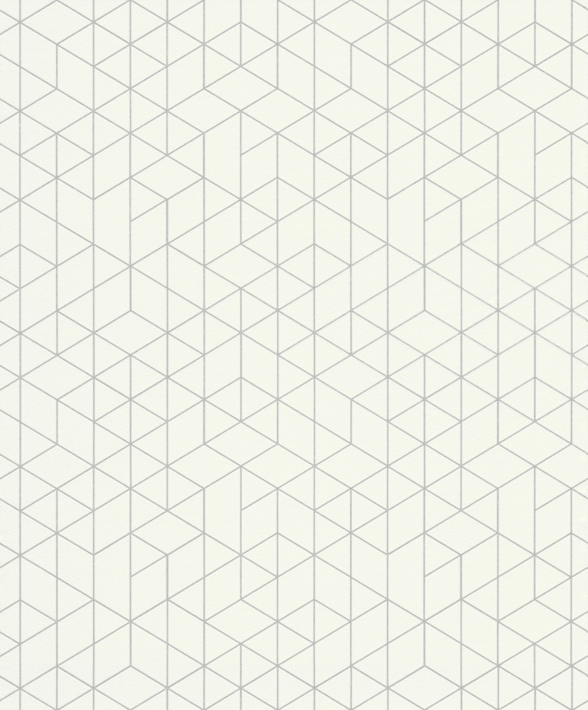 Krém fehér geometriai mintás tapéta - Tapéta Trend Webáruház