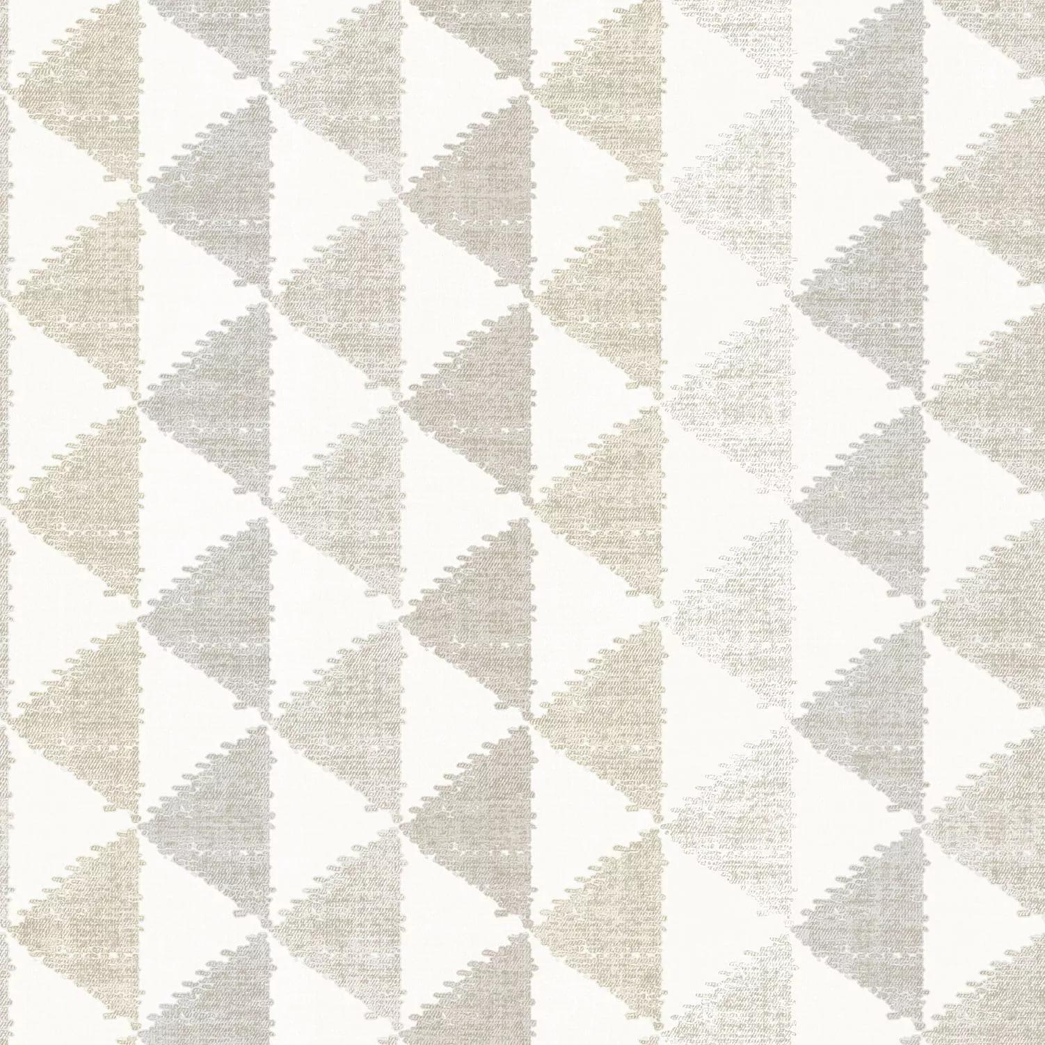 Krém geometrikus mintás vlies tapéta