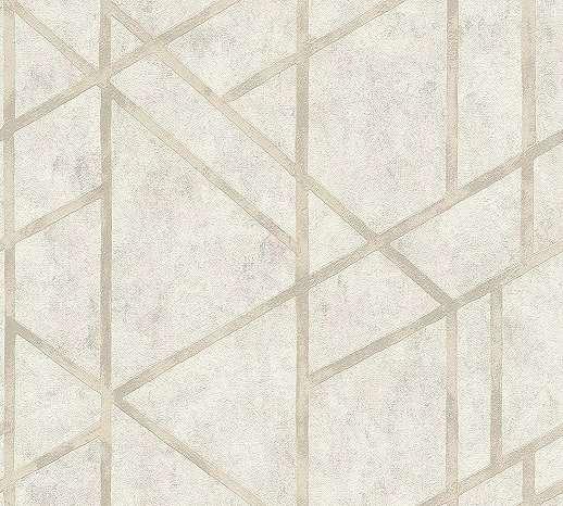 Krém modern geometriai mintás csíkos tapéta