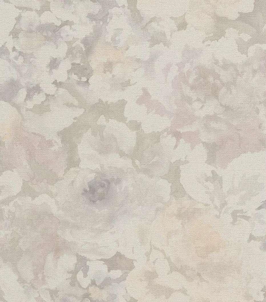 Krém-rózsaszín vintage virágmintás vlies tapéta