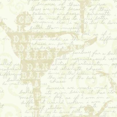 Krém színű feliratos-mintás gyerek tapéta
