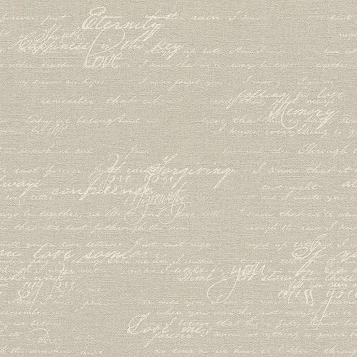 Krém színű írott mintás vlies tapéta