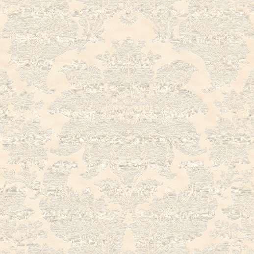 Krém színű tapéta klasszikus barokk mintával