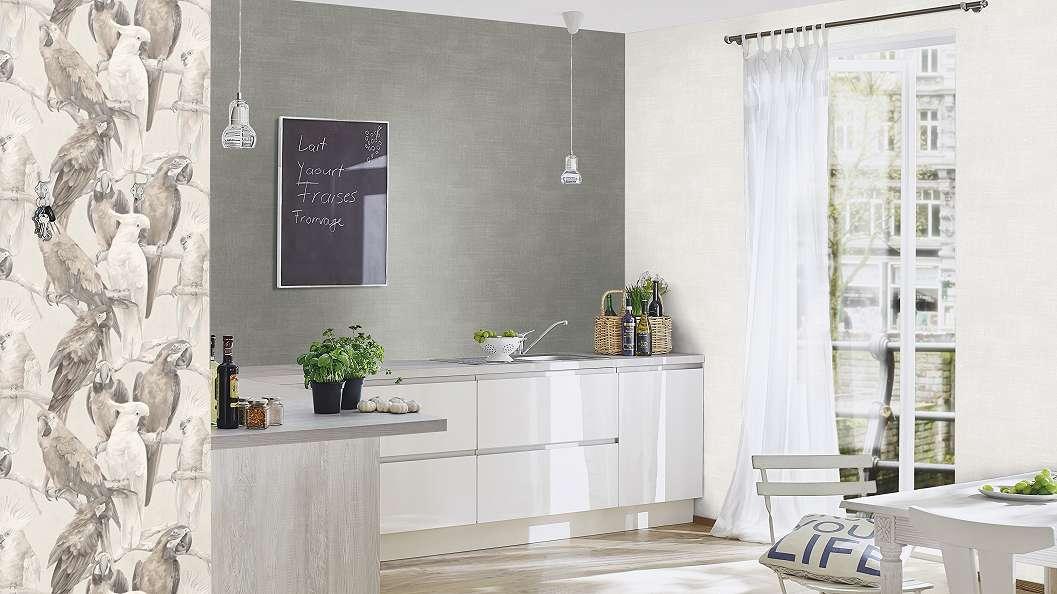 Krém színű textil hatású tapéta - Tapéta Trend Webáruház
