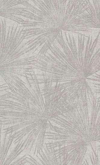 Krém színű trendi trópisi levél mintás tapéta