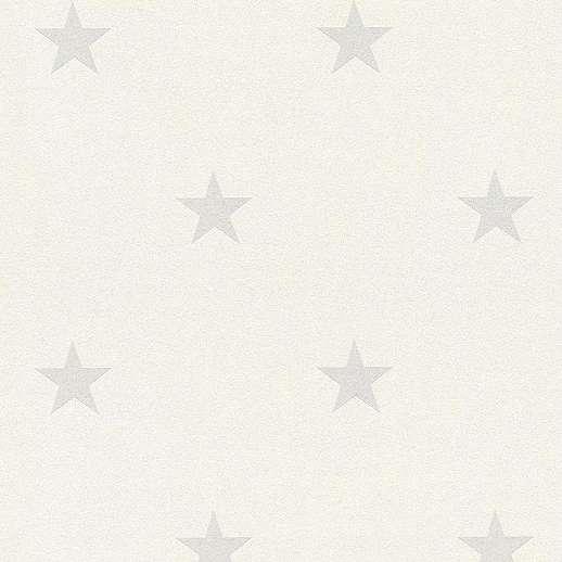 Krém szürke csillag mintás gyerekszobai tapéta