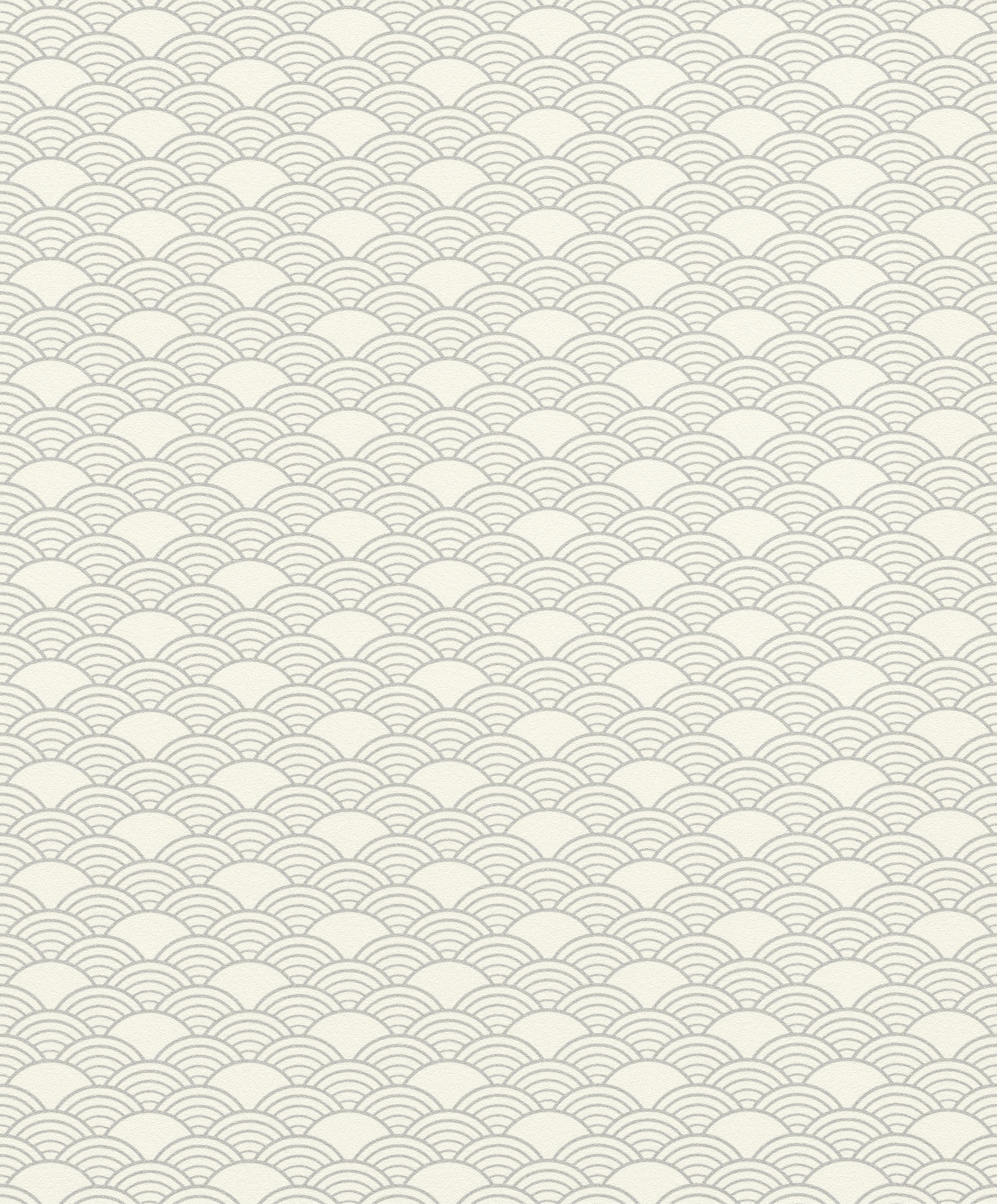 Krémfehér-ezüst keleties mintájú tapéta