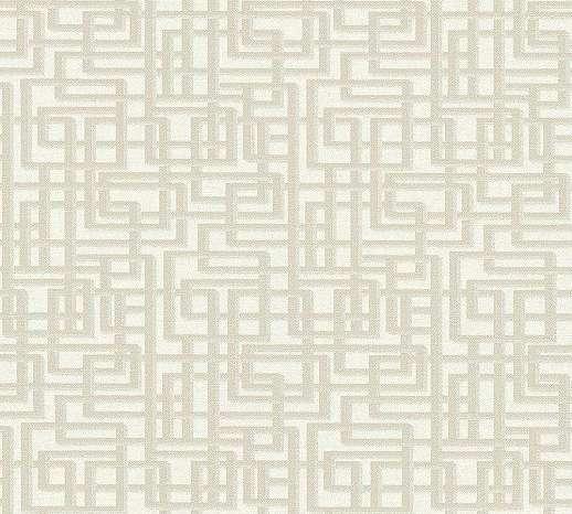 Labirintus geometrikus mintás bézs, szürke vlies tapéta