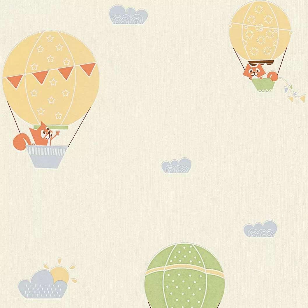 Légballon mintás gyerek tapéta kedves állat mintákkal