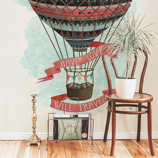 Légballon mintás trendi fali poszter gyerekszobába