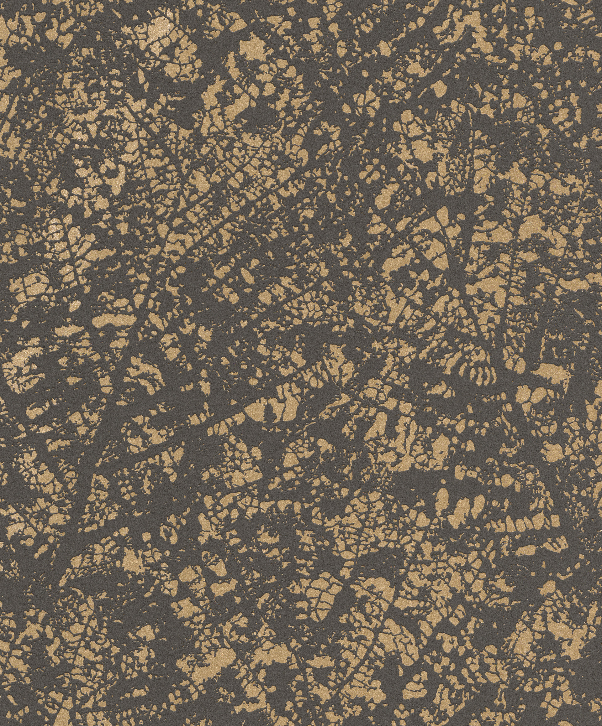 Levél erezet mintás modern tapéta fekete arany színvilágban