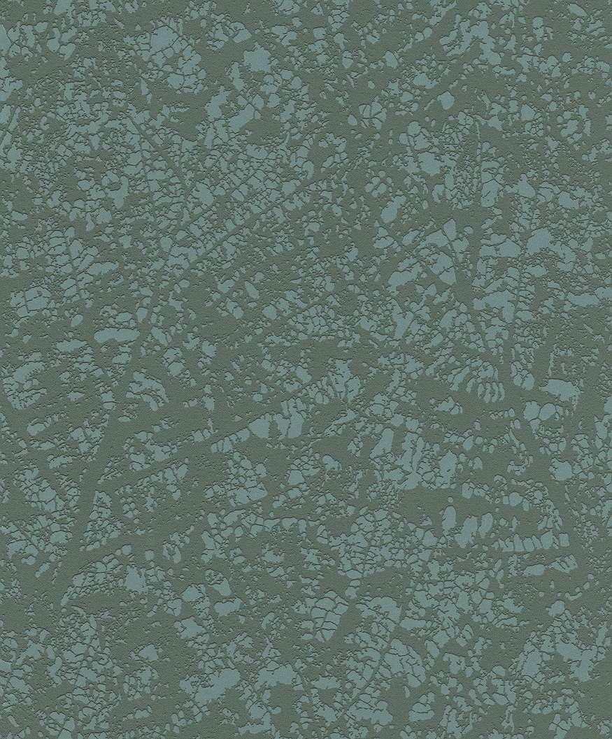 Levél erezet mintás modern tapéta zöld színvilágban