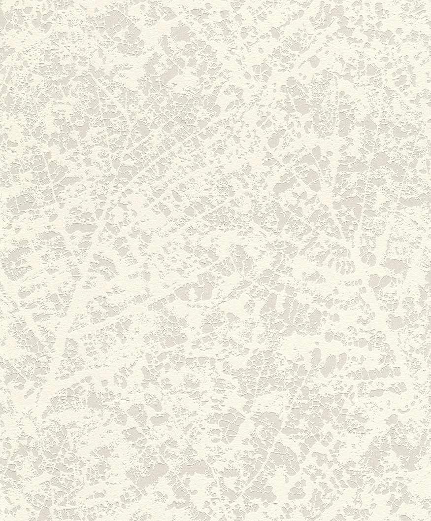 Levélerezet mintás modern tapéta fehér színvilágban