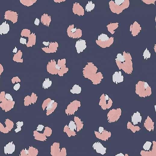 Lila rózsaszín leopár bőr mintás vlies dekor tapéta