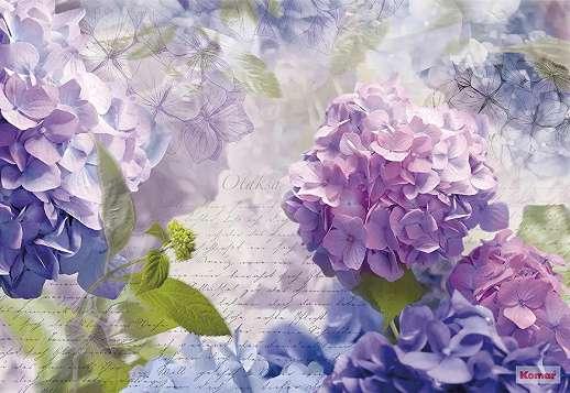 Lila virágok fali poszter