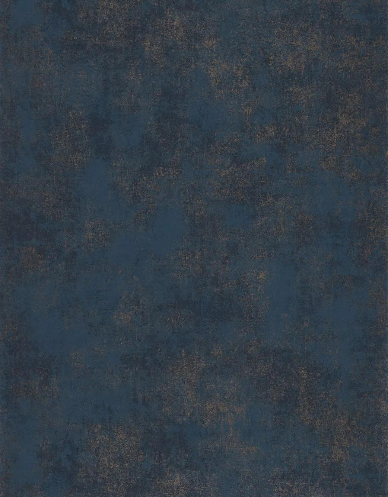 Luxus tapéta sötétkék színben óarany, bronz foltos hatással