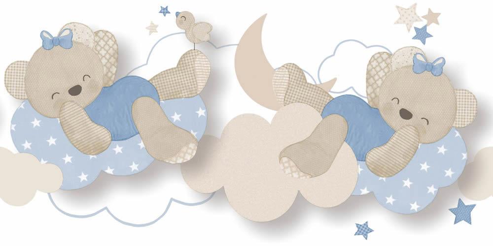 Macis bordűr gyerekszobába kék színvilágban