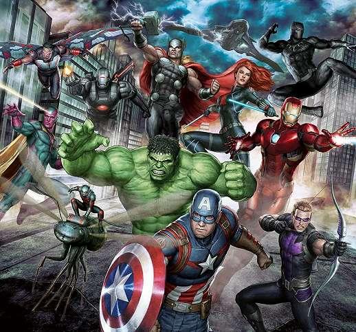 Marvel avengers fali poszter gyerekszobába