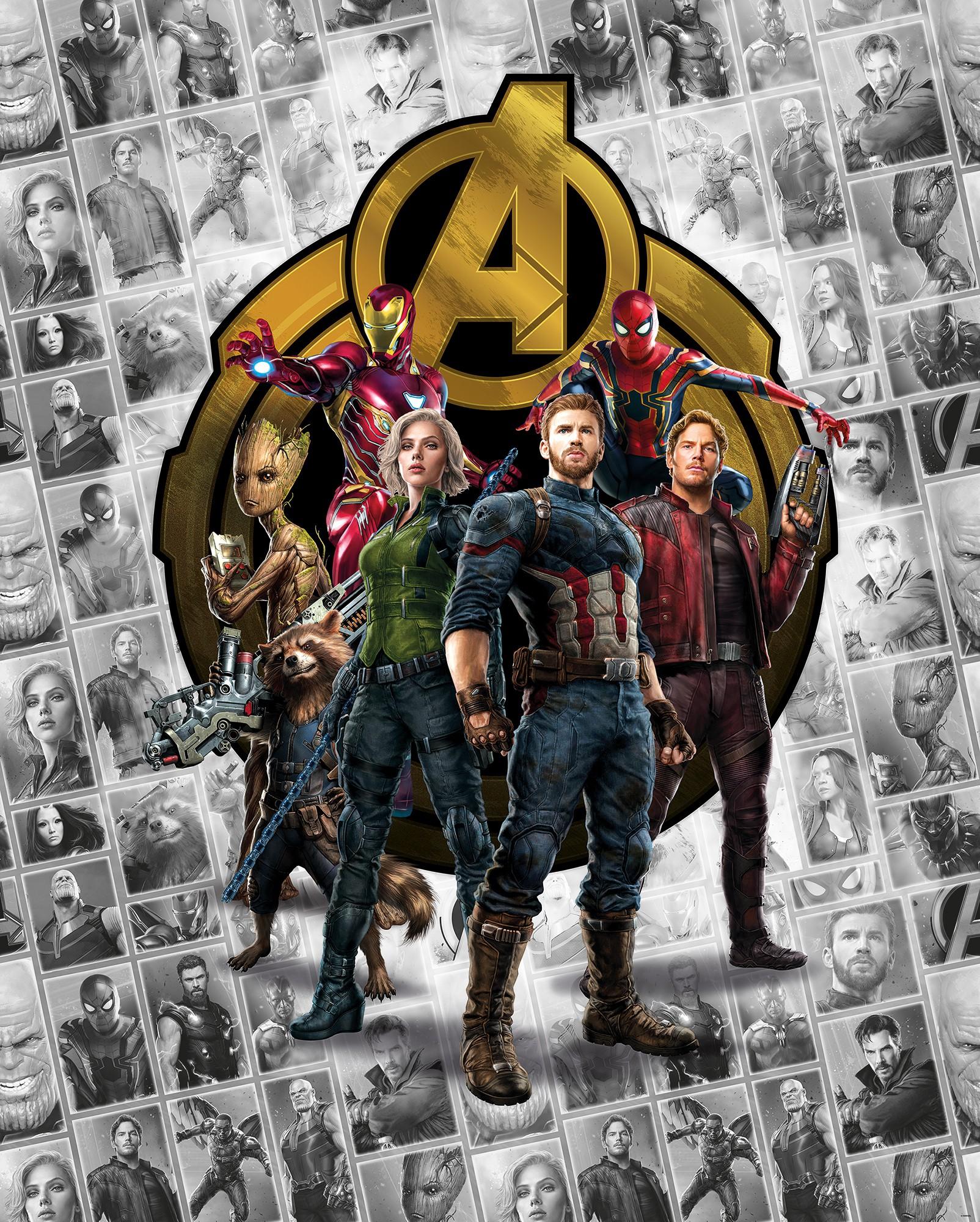 Marvel Avengers Infinity war fali poszter