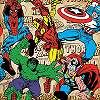 Marvel Comics tapéta szuperhősök mintával